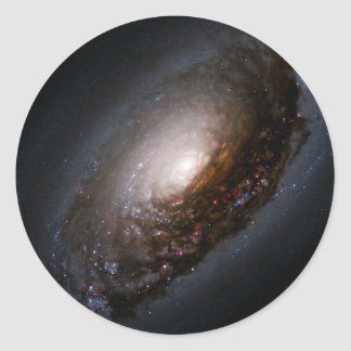 Dust Band Around the Nucleus of the Black Eye Gala Classic Round Sticker