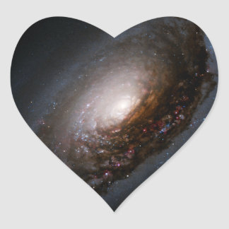 Dust Band Around the Nucleus of the Black Eye Gala Heart Sticker