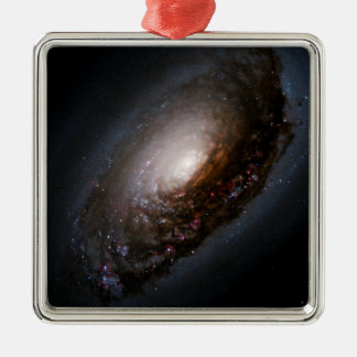 Dust Band Around the Nucleus of the Black Eye Gala Metal Ornament