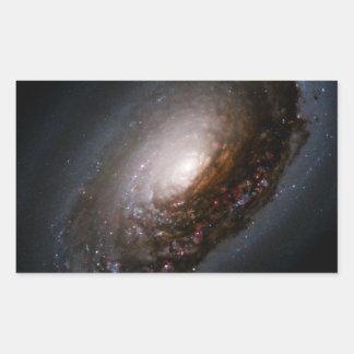 Dust Band Around the Nucleus of the Black Eye Gala Rectangular Sticker