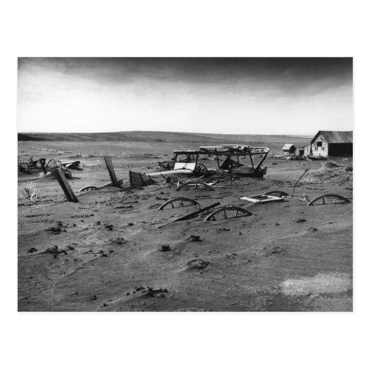 Dust Bowl Dallas South Dakota 1936 Postcard
