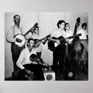 Dust Bowl Era Band Print