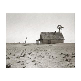 Dust Bowl Farm, 1938 Canvas Print