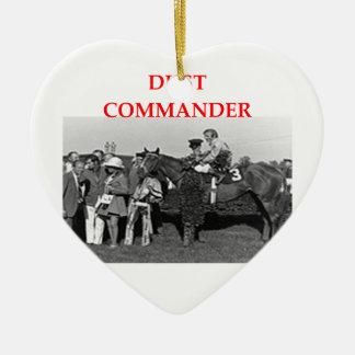 dust commander Double-Sided heart ceramic christmas ornament