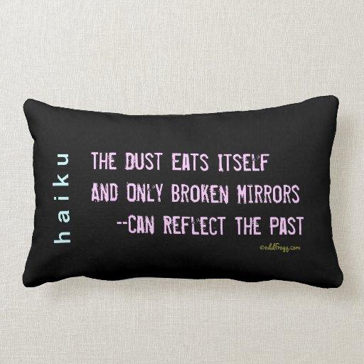 Dust Eats Itself Modern Haiku Throw Pillow