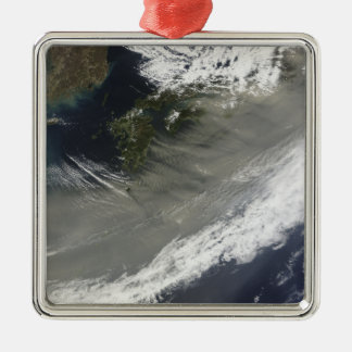 Dust over Japan Square Metal Christmas Ornament
