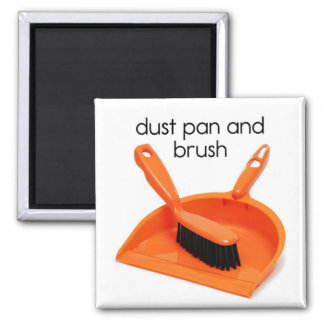 Dust Pan and Brush Refrigerator Magnet