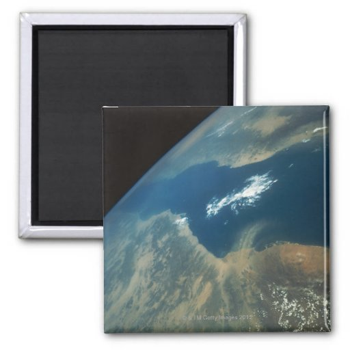 Dust Plume over the Red Sea 2 Inch Square Magnet