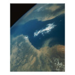 Dust Plume over the Red Sea Poster