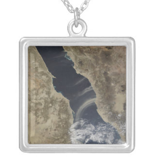 Dust plumes blow off the coast of Saudi Arabia Personalized Necklace