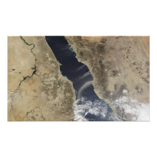 Dust plumes blow off the coast of Saudi Arabia Photo Print
