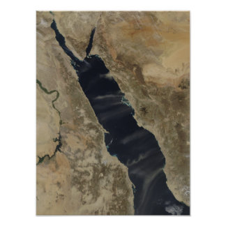 Dust plumes over the Red Sea Print