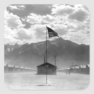 Dust storm at this War Relocation_War image Square Sticker