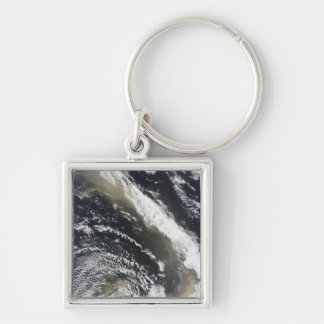 Dust storm blowing over the Tasman Sea Silver-Colored Square Keychain
