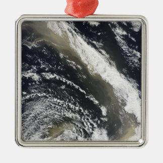 Dust storm blowing over the Tasman Sea Square Metal Christmas Ornament