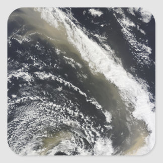 Dust storm blowing over the Tasman Sea Square Sticker