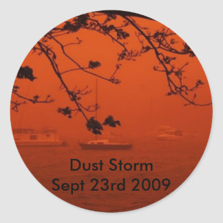 Dust Storm Classic Round Sticker