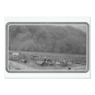 Dust Storm in Approching Rolla Kansas in 1935 Custom Announcement
