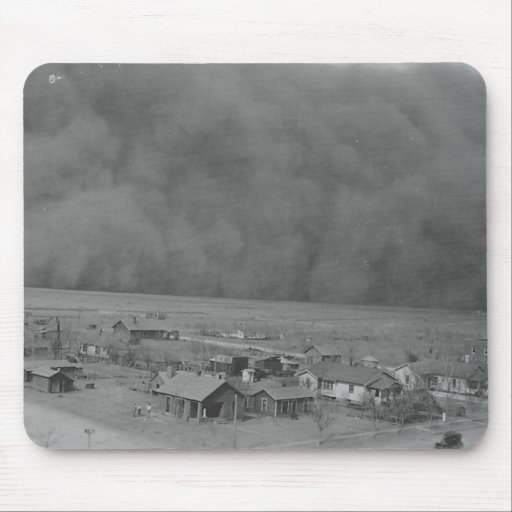 Dust Storm in Approching Rolla Kansas in 1935 Mouse Pad