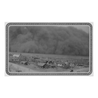 Dust Storm in Approching Rolla Kansas in 1935 Posters