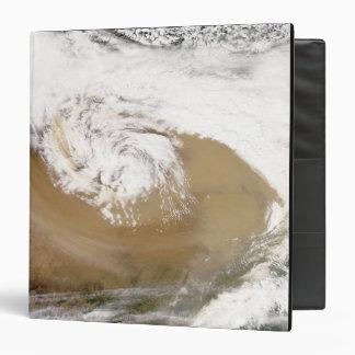 Dust storm in northern China 2 Vinyl Binder