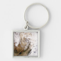 Dust storm in northern China Keychain