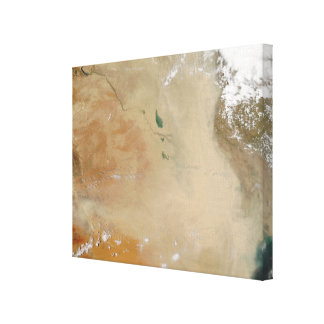 Dust storm in the Middle East Canvas Print