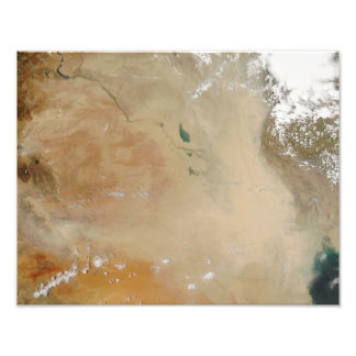 Dust storm in the Middle East Photo Print