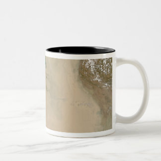 Dust storm in the Middle East Two-Tone Coffee Mug