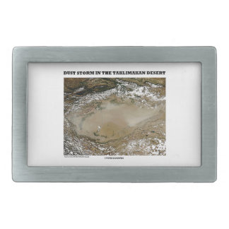 Dust Storm In The Taklimakan Desert Picture Earth Belt Buckle