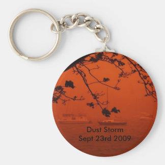 Dust Storm Basic Round Button Keychain