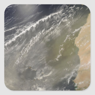 Dust storm off West Africa 2 Square Sticker