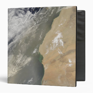 Dust storm off West Africa 3 Ring Binder
