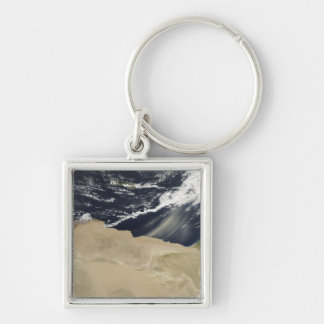 Dust storm over Egypt Silver-Colored Square Keychain
