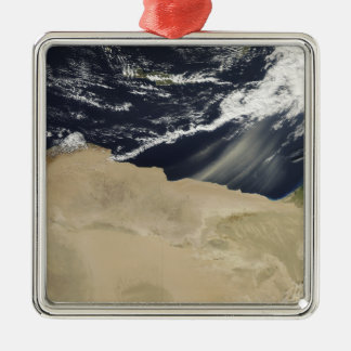 Dust storm over Egypt Square Metal Christmas Ornament
