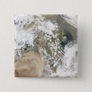 Dust storms over the Middle East Pinback Button