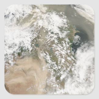Dust storms over the Middle East Square Sticker