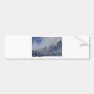 Dusted Flatirons Low Clouds Boulder Colorado Bumper Sticker
