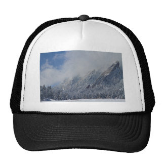 Dusted Flatirons Low Clouds Boulder Colorado Hat