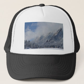 Dusted Flatirons Low Clouds Boulder Colorado Trucker Hat