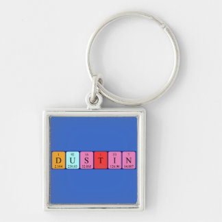 Dustin periodic table name keyring keychains