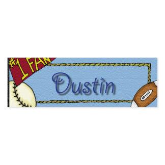 Dustin Sports Bookmark Business Card