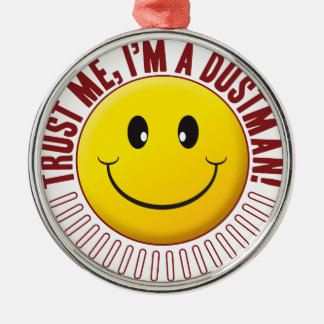 Dustman Trust Smiley Silver-Colored Round Decoration