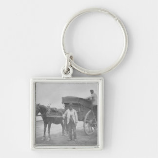 Dustmen, from 'Street Life in London', 1877-78 (wo Silver-Colored Square Keychain