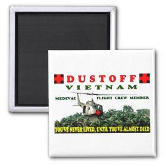 DUSTOFF 2 INCH SQUARE MAGNET