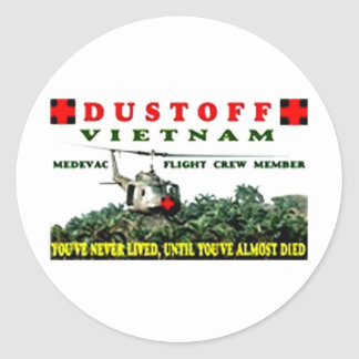 DUSTOFF CLASSIC ROUND STICKER
