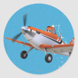 Dusty 1 classic round sticker