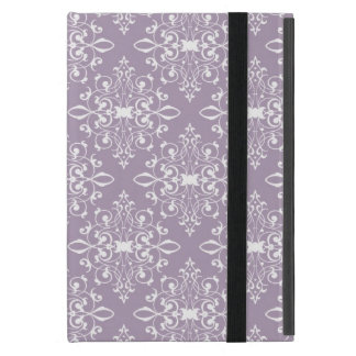 Dusty Amethyst Lavender and White Damask Cover For iPad Mini