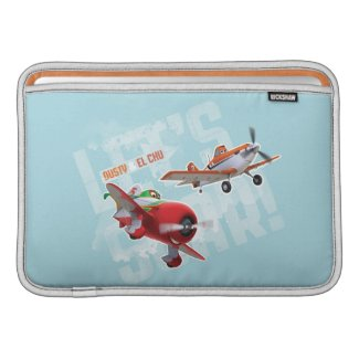 Dusty and El Chu - Let's Soar! Sleeve For MacBook Air
