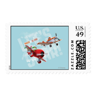 Dusty and El Chu - Let's Soar! Postage Stamp